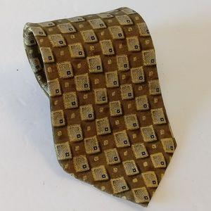 Jos A Bank Geometric Silk Mens Necktie